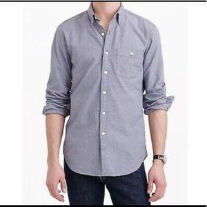 J. Crew Men's Jaspé Cotton Button Down Shirt M
